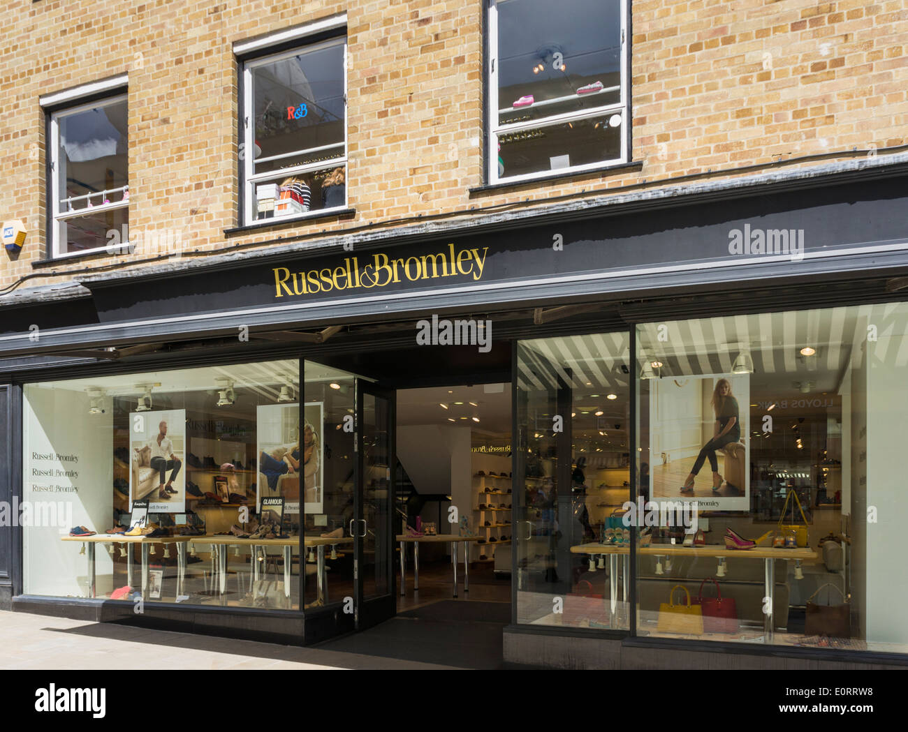 Russell and Bromley shoe store, England, UK - Stock Image