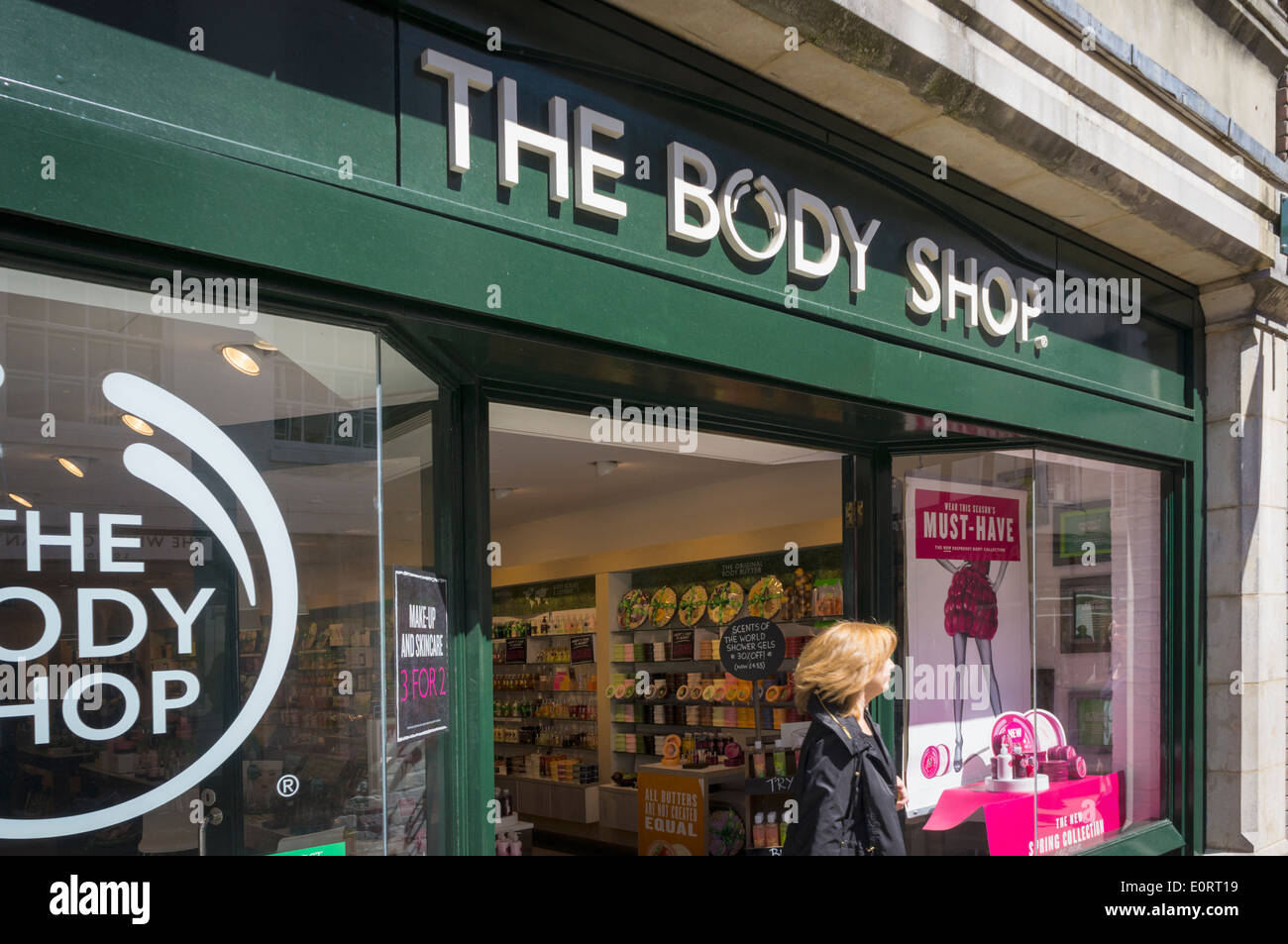 Body Shop store, England, UK - Stock Image