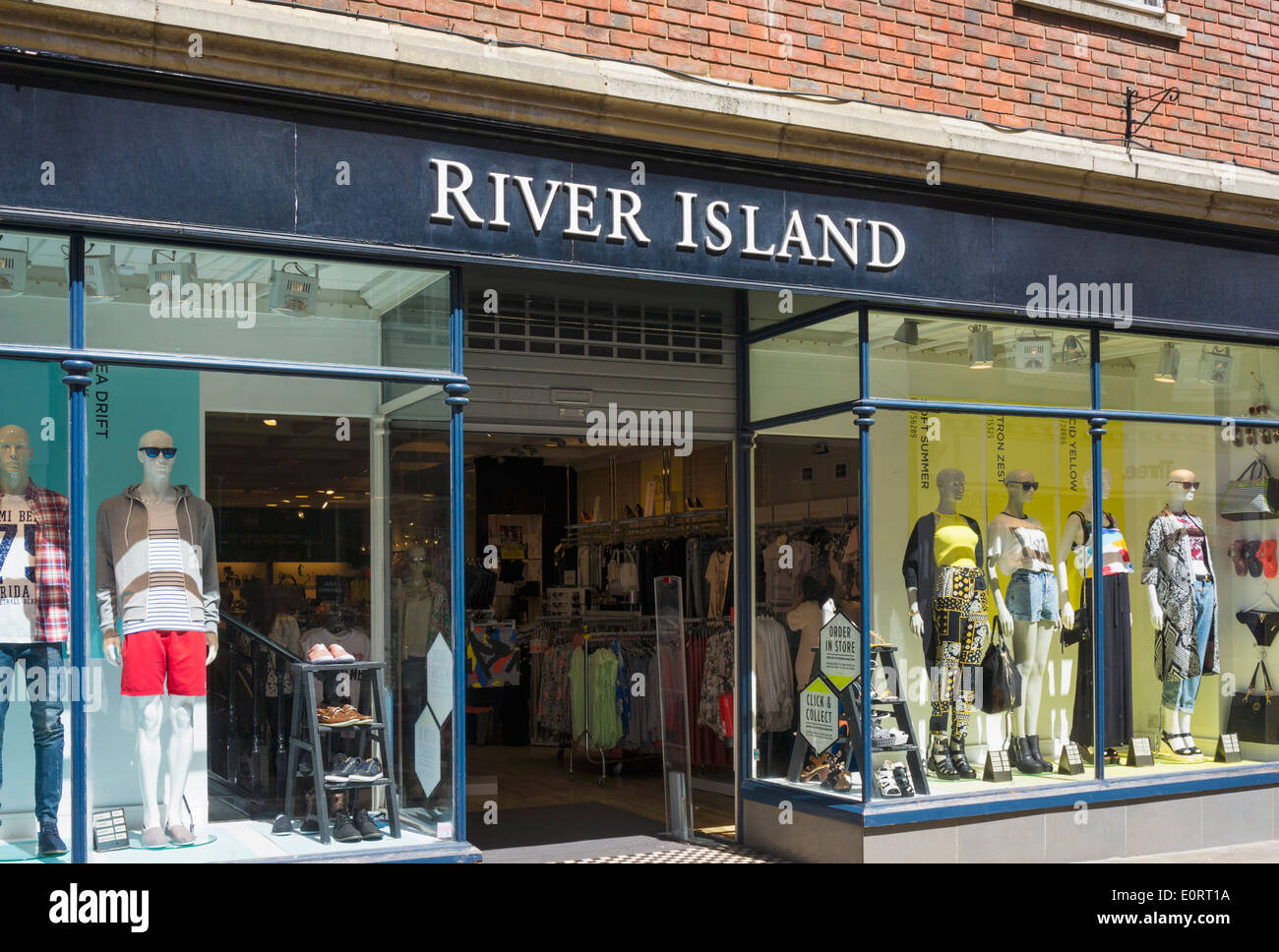 River Island clothing chain store, England, UK - Stock Image