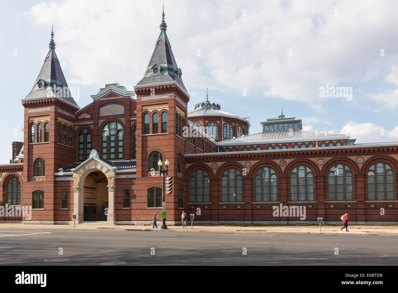 Exterior of Arts and Industries building of Smithsonian Institution in Washington DC, USA - Stock Image