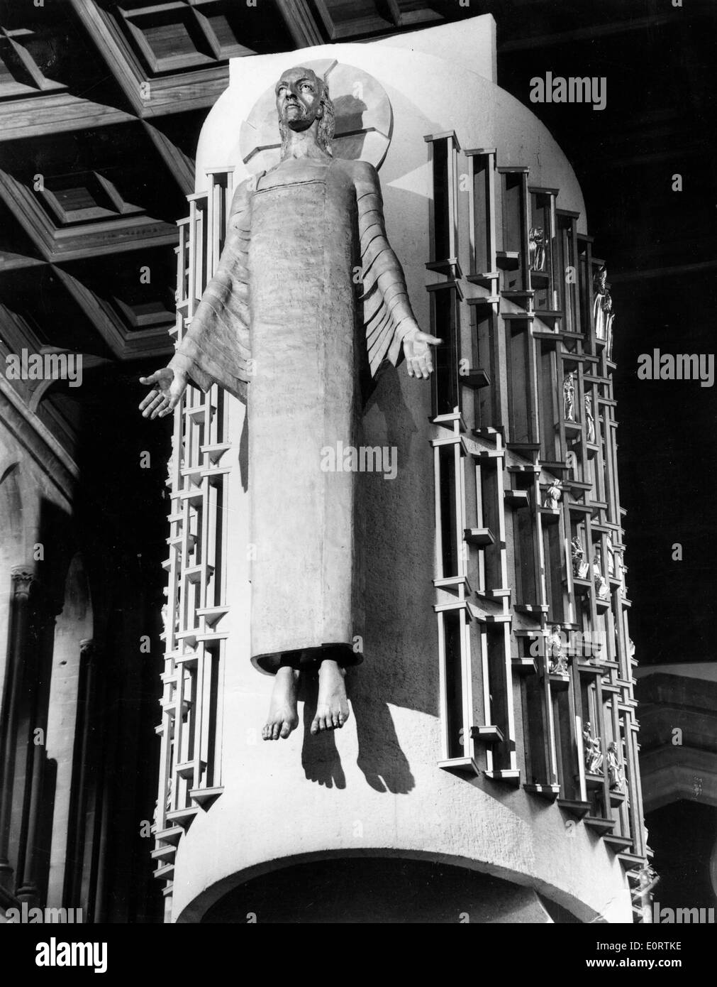 Jacob Epstein's sculpture 'Christ in Majesty' - Stock Image