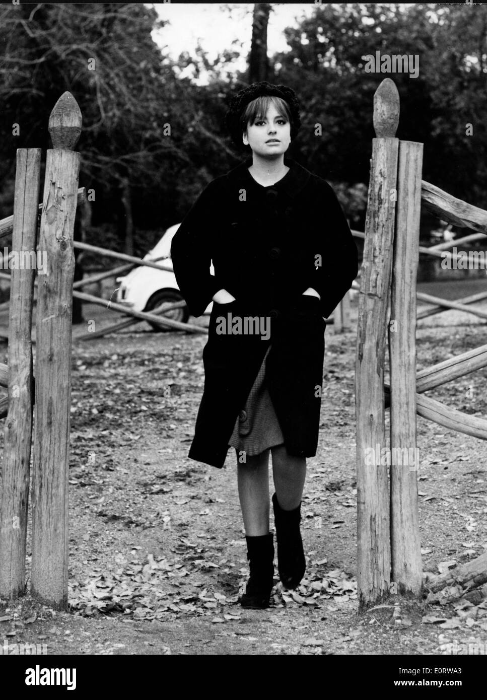 Actress Edy Farinelli at stables - Stock Image