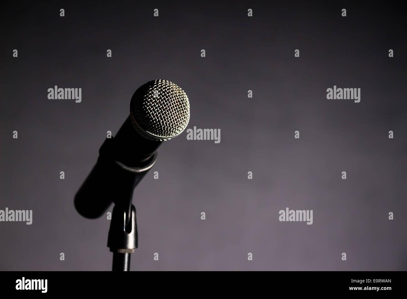 Karaoke Sing Music Record Dark Stock Photos & Karaoke Sing Music