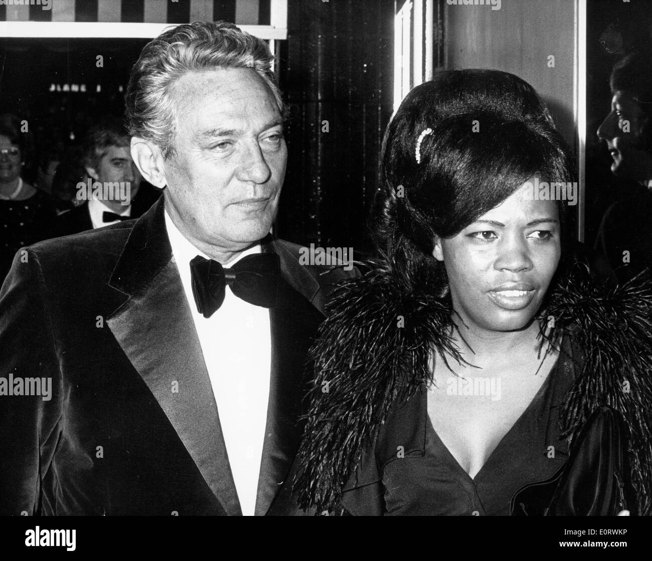 Actor Peter Finch at event with Eletha Barrett - Stock Image