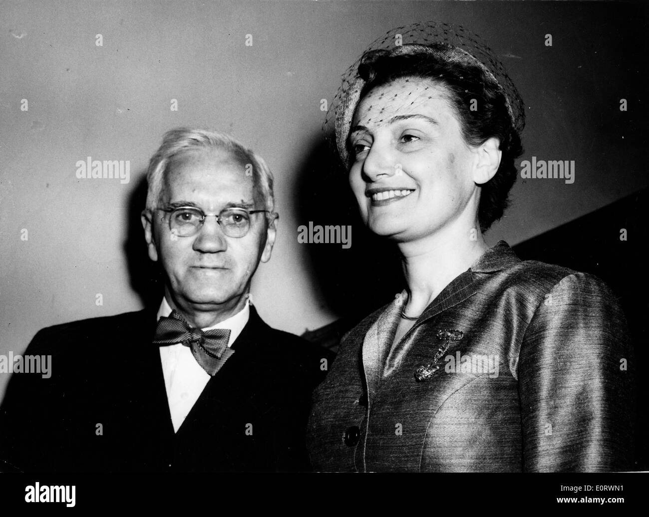 Biologist Alexander Fleming with wife Amalia - Stock Image