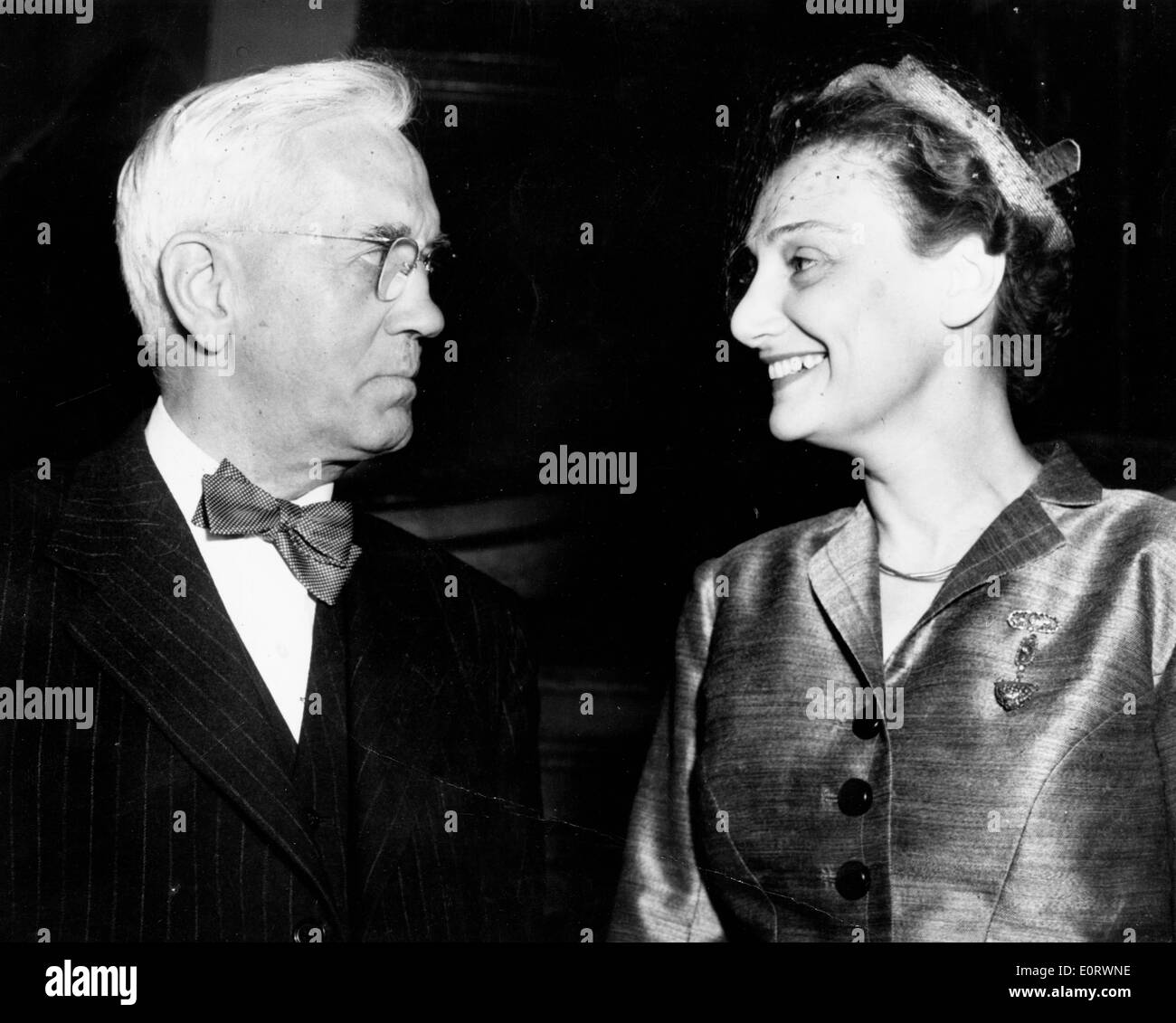 Scientist Alexander Fleming with wife Amalia - Stock Image