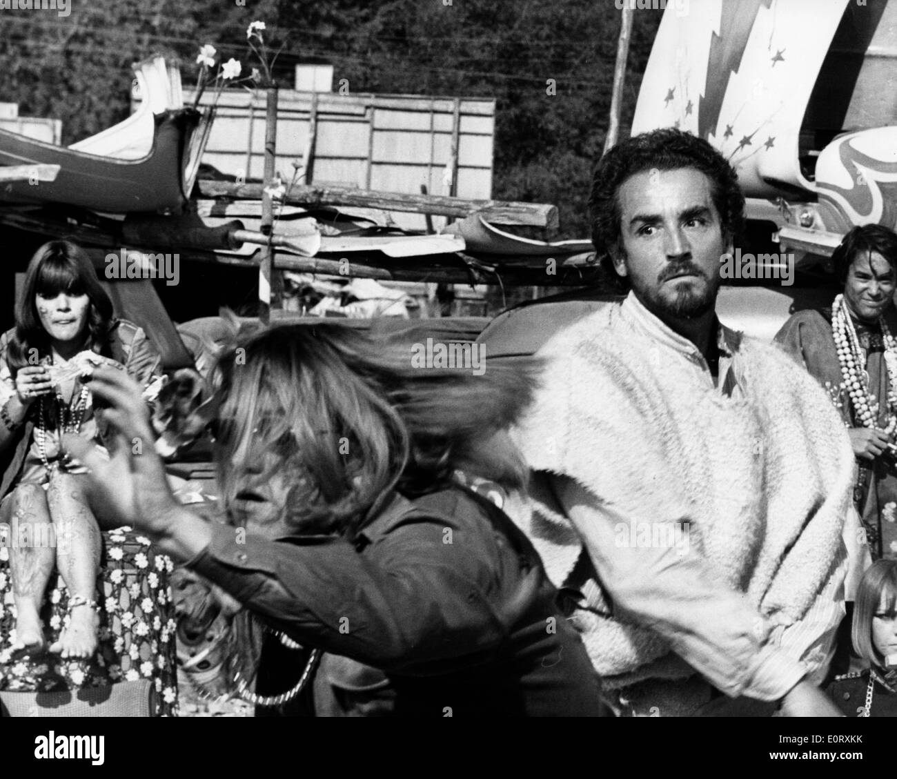 Actor and director, VITTORIO GASSMAN on set. - Stock Image