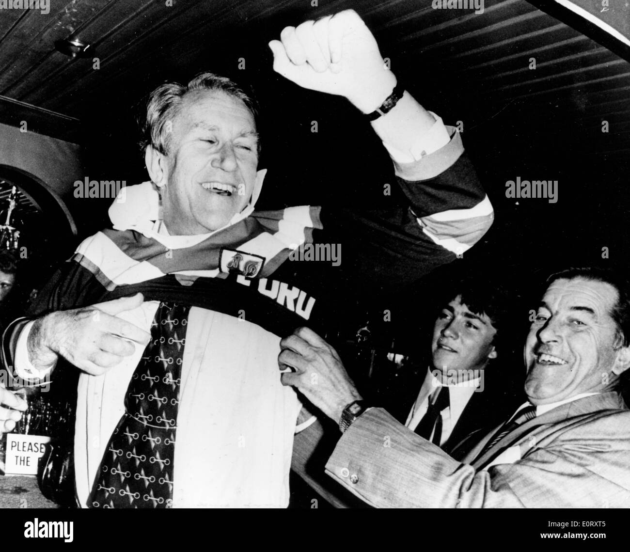 Prime Minister Fraser visits Eastern Suburb Leagues Club - Stock Image