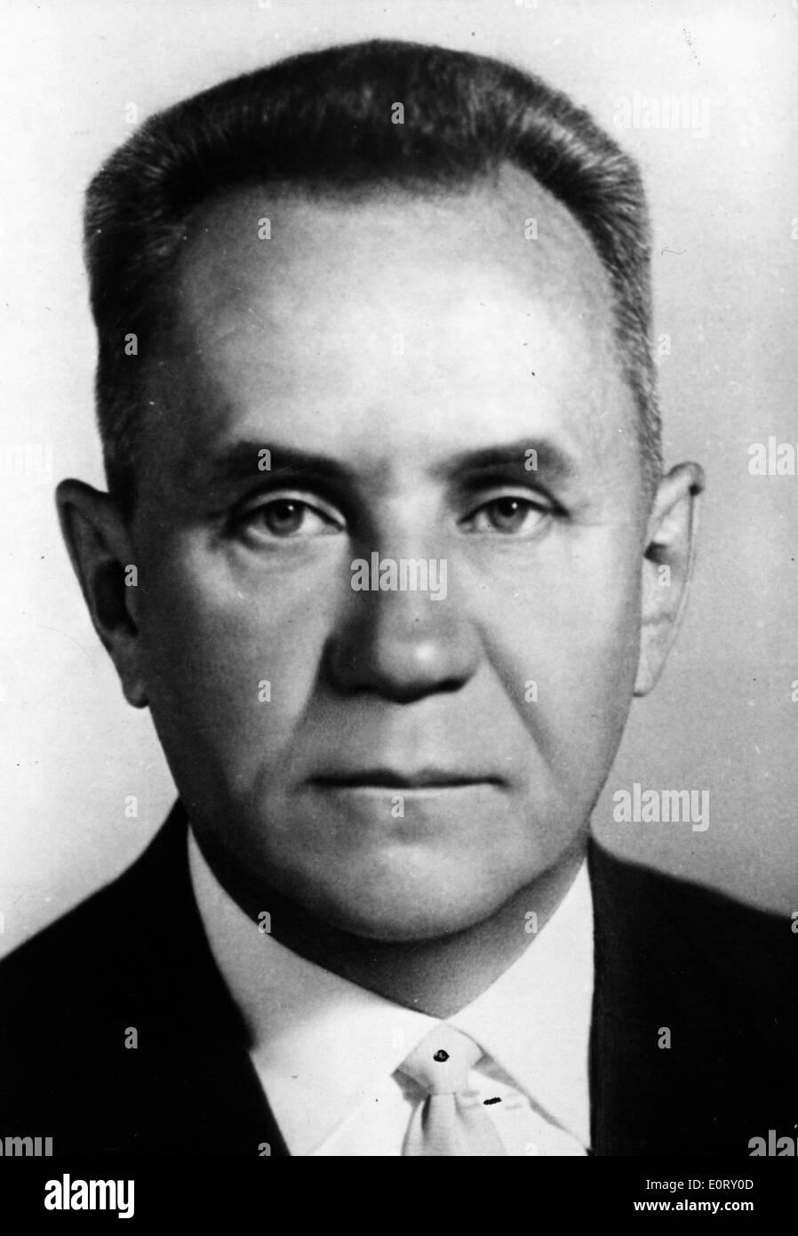 Portrait of Soviet-Russian statesman Alexei Kosygin - Stock Image