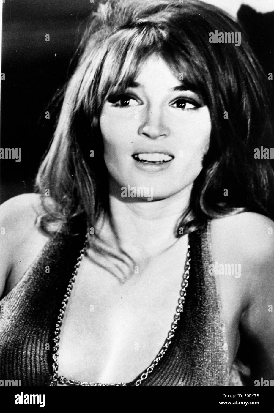 Close-up of actress Talitha Getty - Stock Image