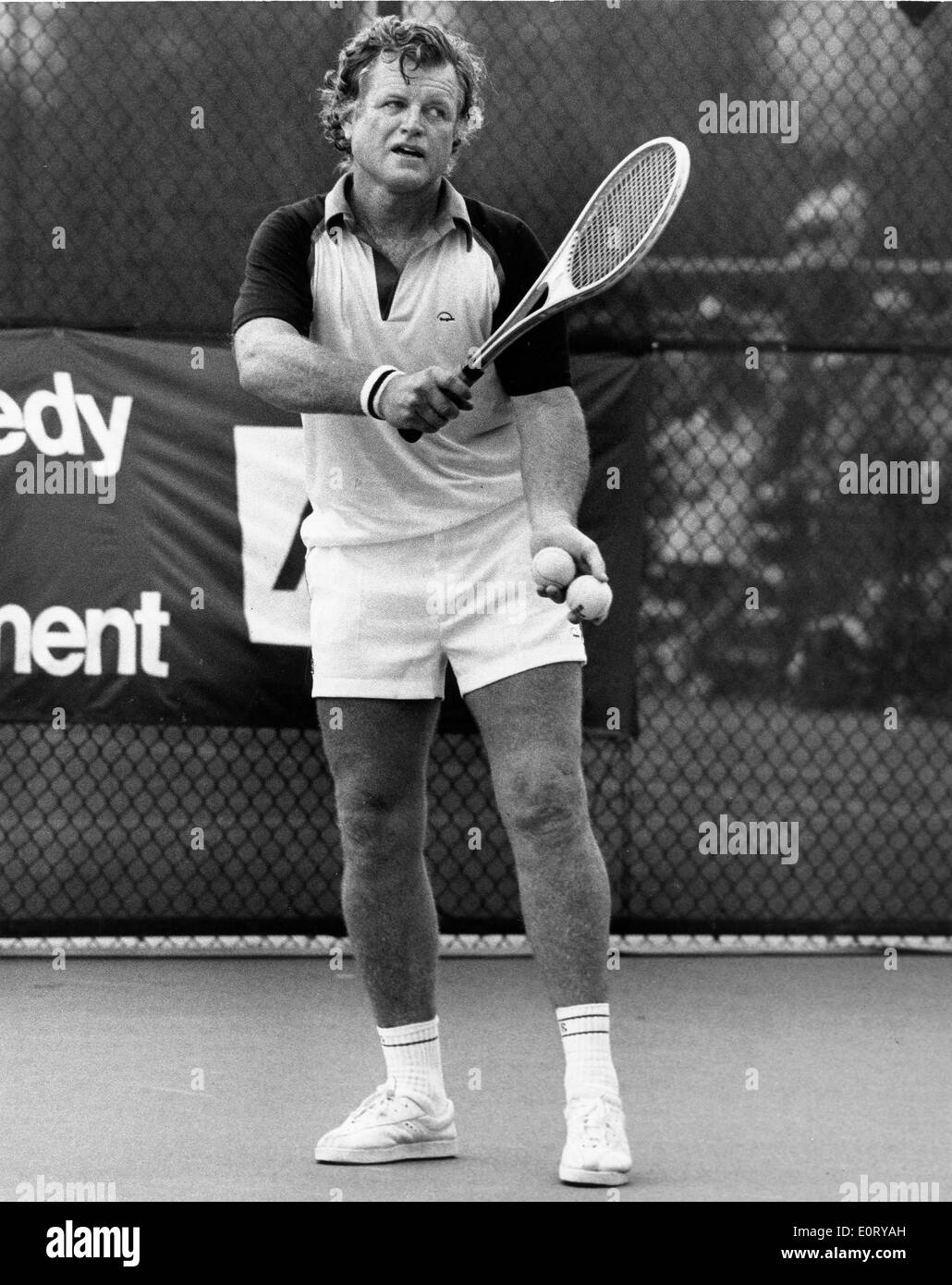 Edward Kennedy plays in RFK tennis tournament - Stock Image