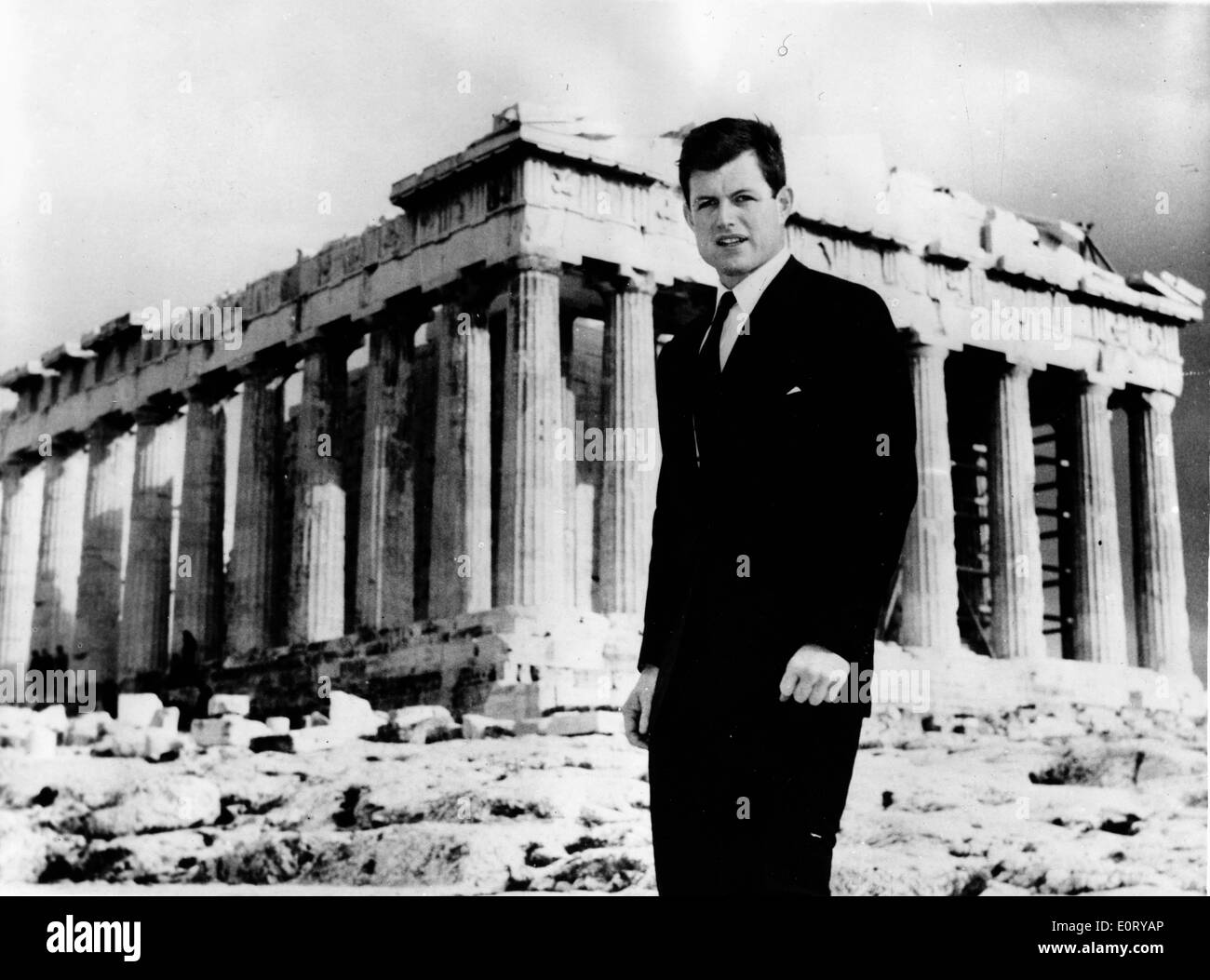 Senator Ted Kennedy visits the Parthenon - Stock Image