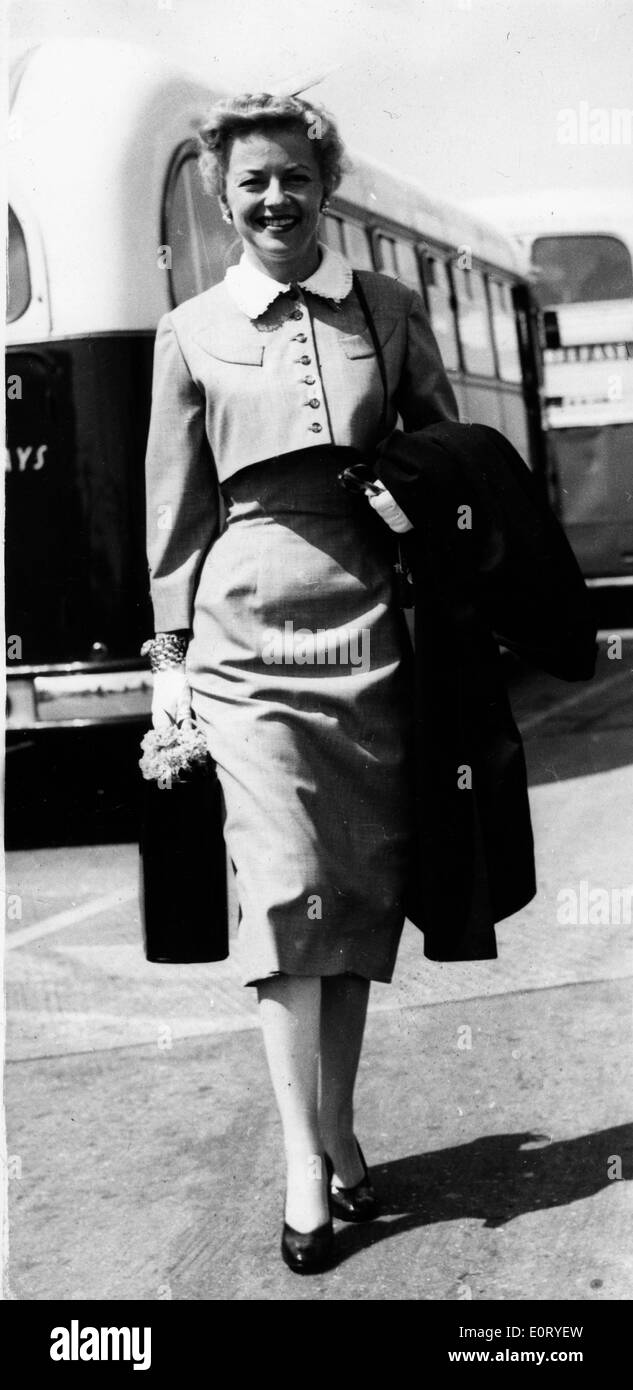 Actress Betty Furness at the airport - Stock Image