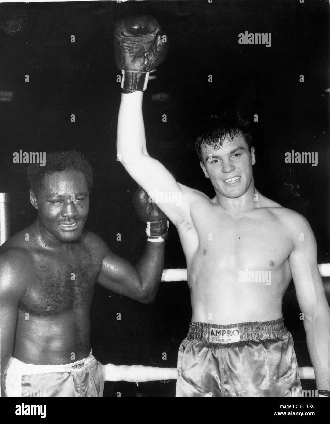 Boxer Ezzard Charles is defeated - Stock Image