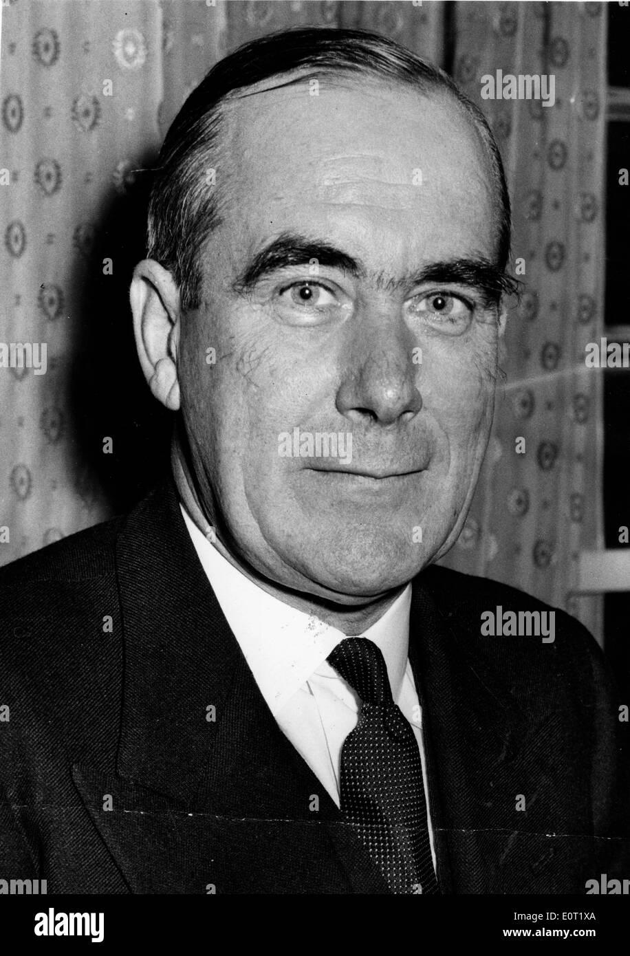 Close-up of diplomat Hugh Foot - Stock Image