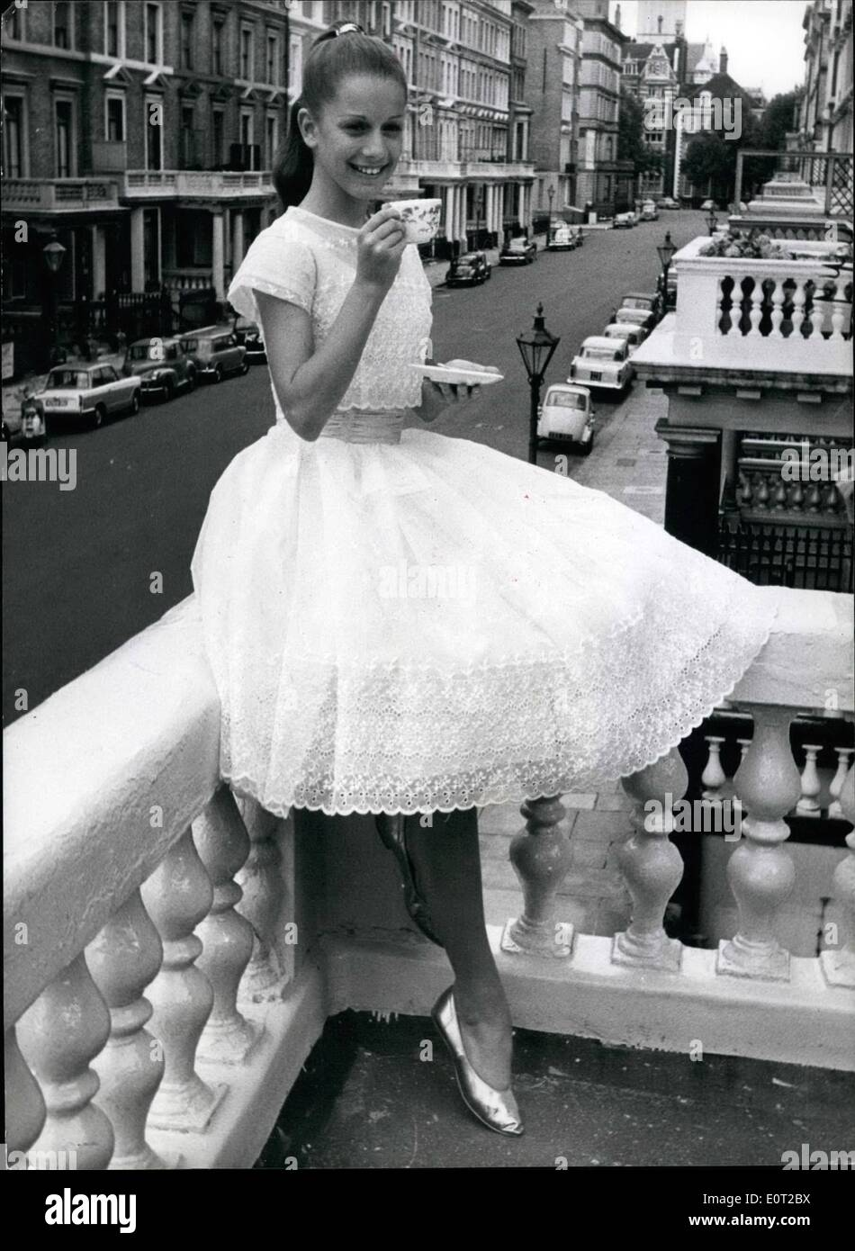 Jul. 07, 1960 - America's ''Baby Ballerina'' in London: Photo Shows Pictured in London yesterday is America's ''Baby Ballerina'' - 12-year old Claudia Cravey, of Palm Beach, Florida, who is here to dance the part of a young princess in love with a commoner when ''The Princess'' opens in London next month. - Stock Image