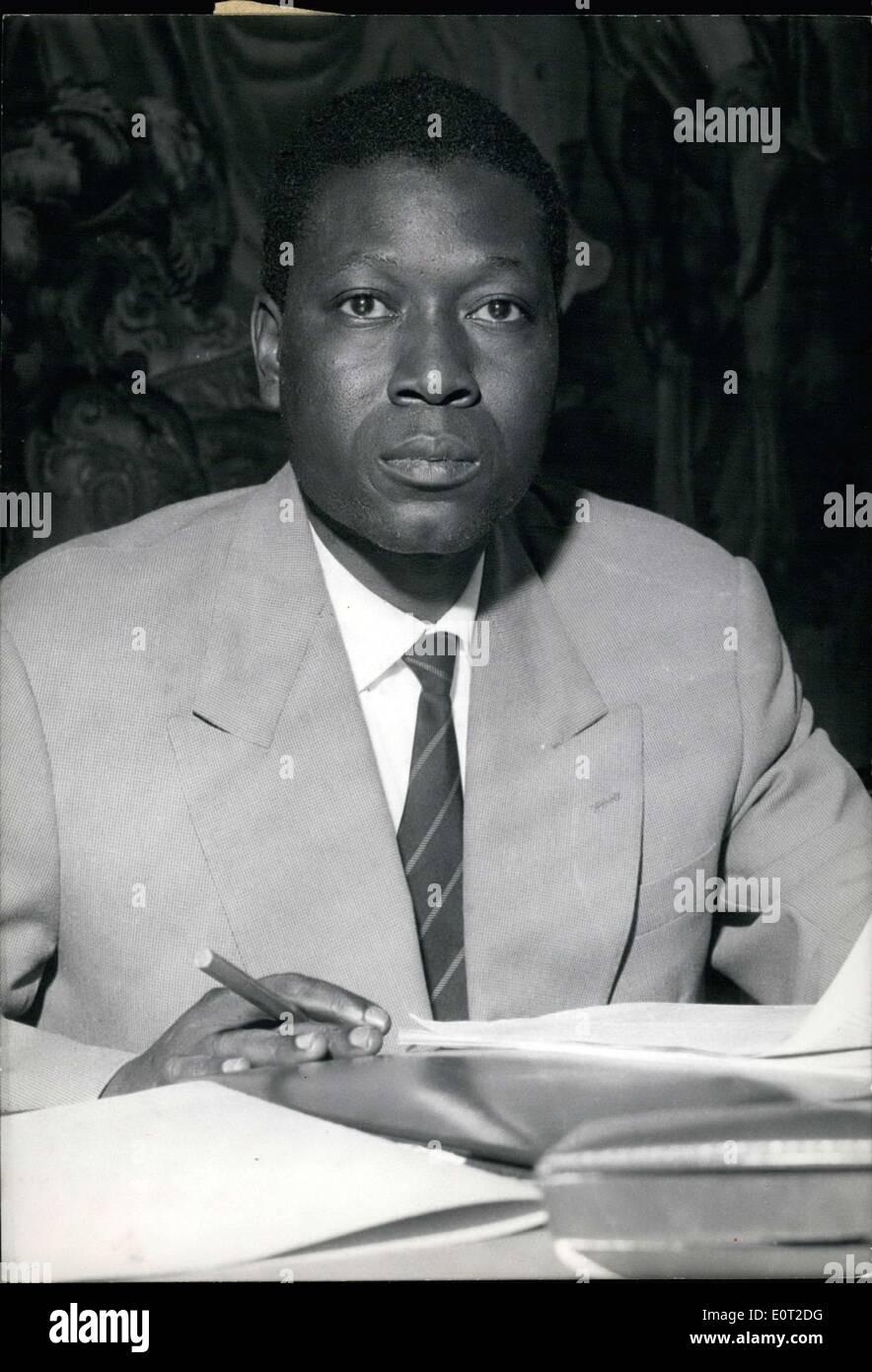 Jul. 15, 1960 - Mali's government just designated Mr. Abdoulaye Maiga as a representative of Mali in Paris. Maiga, who has just - Stock Image