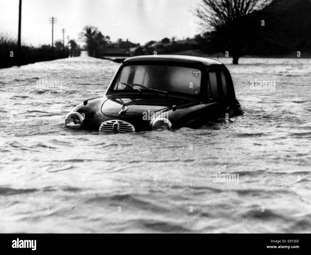 NATURAL DISASTER: 1960 Floods in England - Stock Image