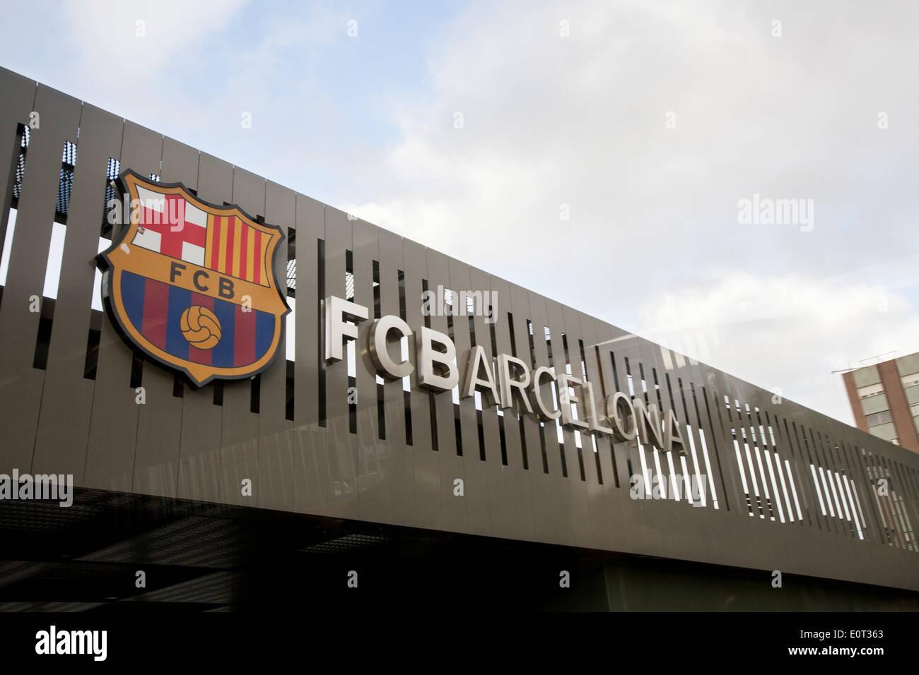 Entrance at the FC Barcelona stadium - Stock Image