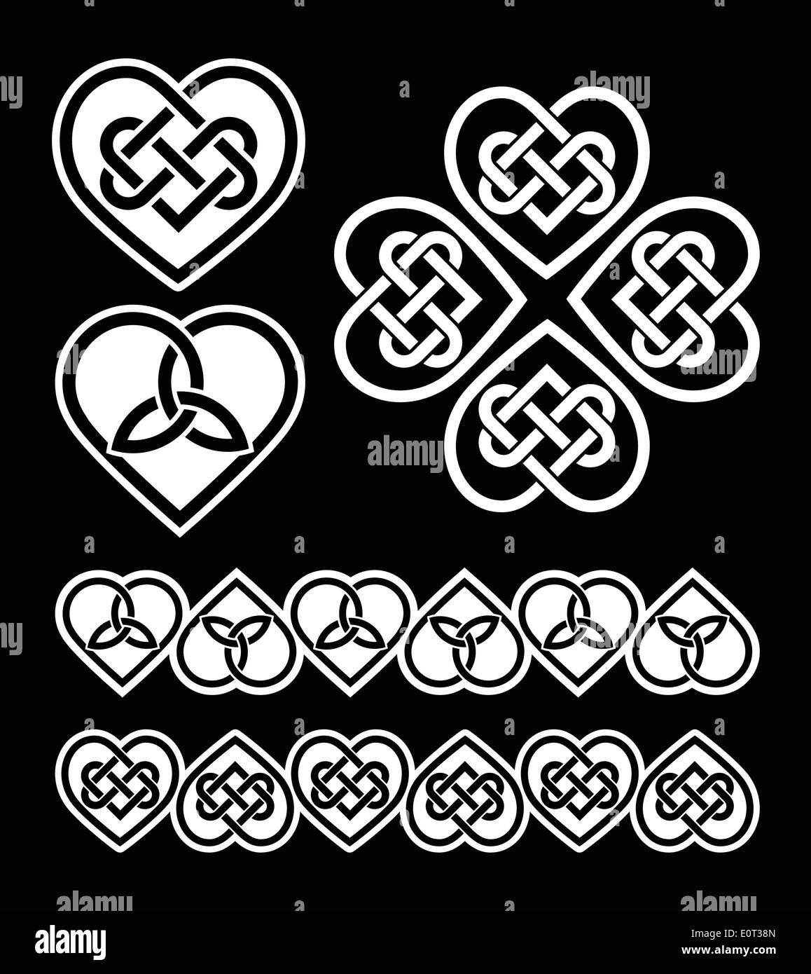 Irish Scottish Celtic Heart Vector Pattern Stock Vector Art