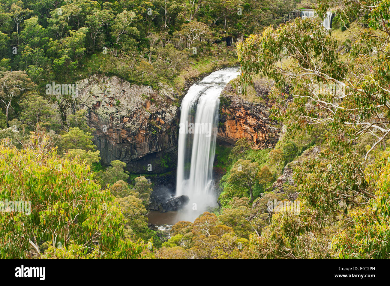 Ebor Falls on the Waterfall Way in New South Wales. - Stock Image