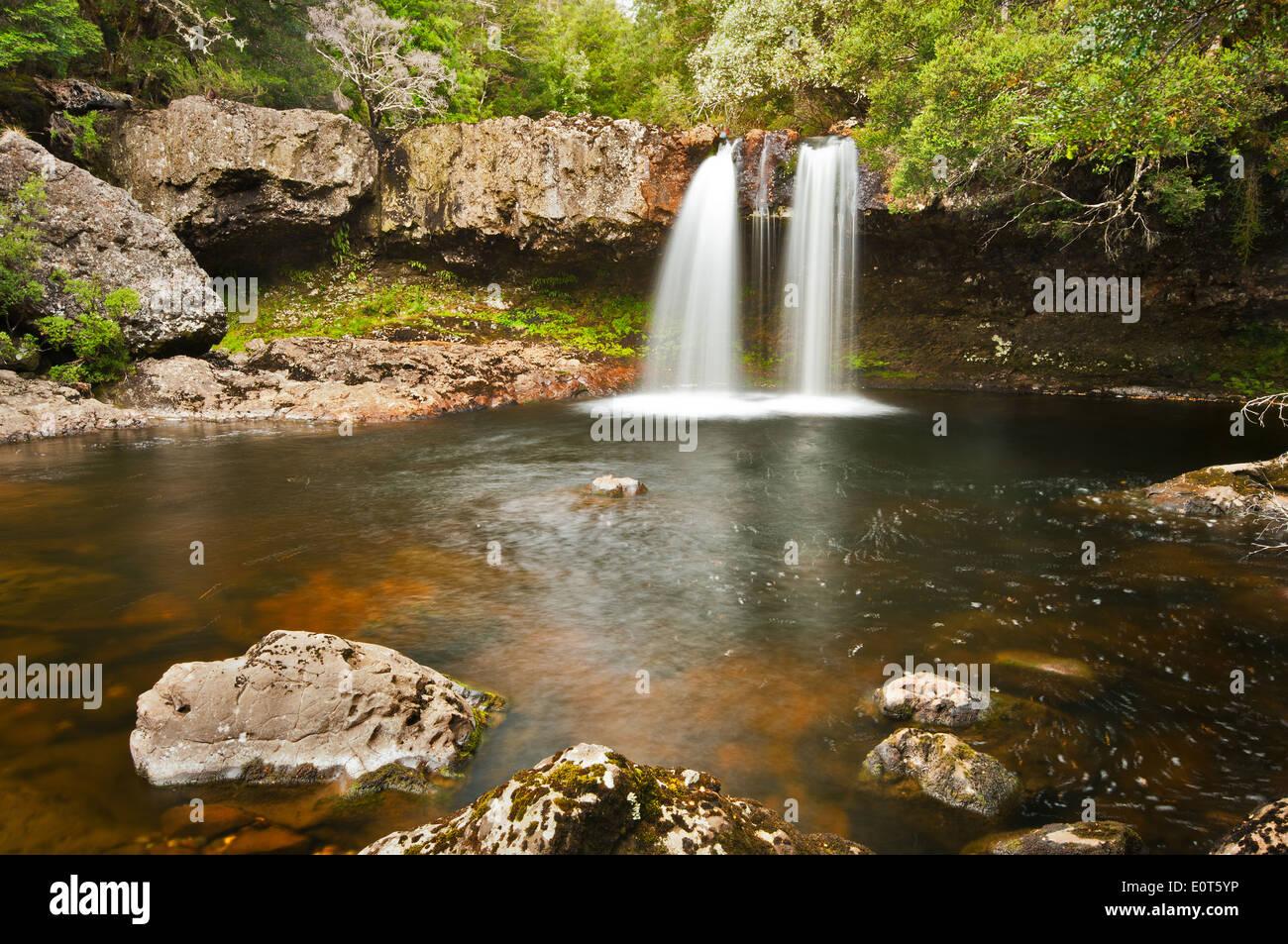 Knyvet Falls in Cradle Mountain National Park. - Stock Image