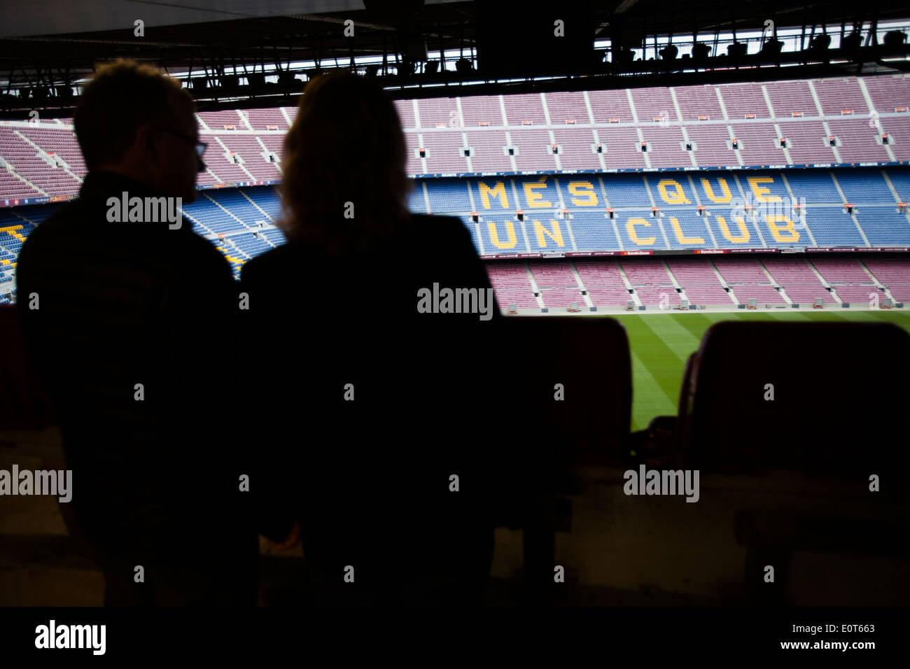 Football club Barcelona stadium - Stock Image