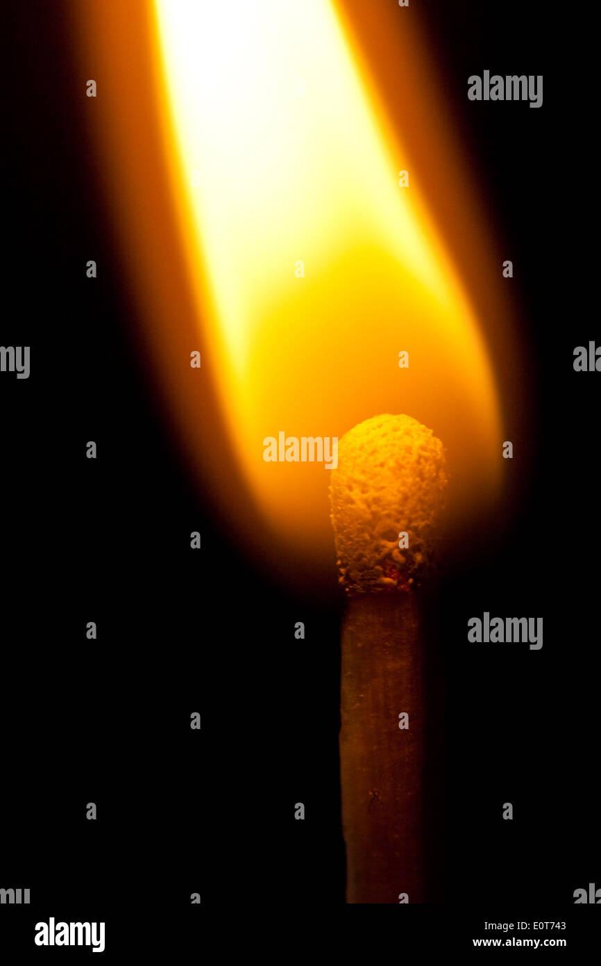 Brennendes Streichholz - Burning match - Stock Image
