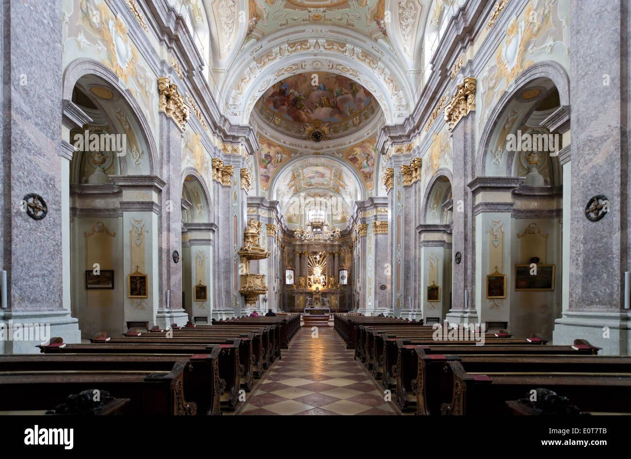 Fresco Paiting, Church of Pilgrim Sonntagberg, Austria, Lower Austria, Mostviertel Region - Stock Image