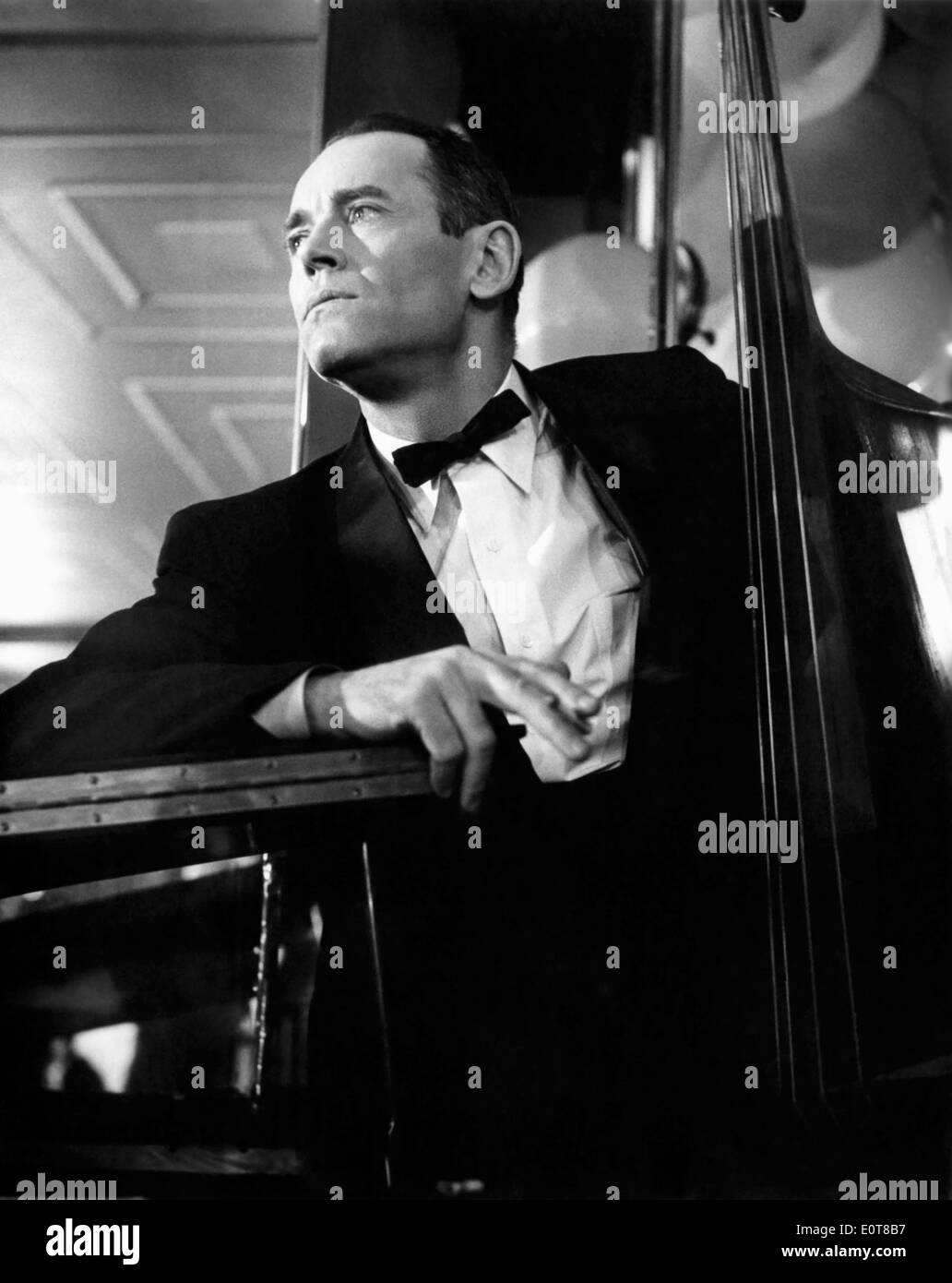Henry Fonda, on-set of the Film, 'The Wrong Man', 1956 - Stock Image