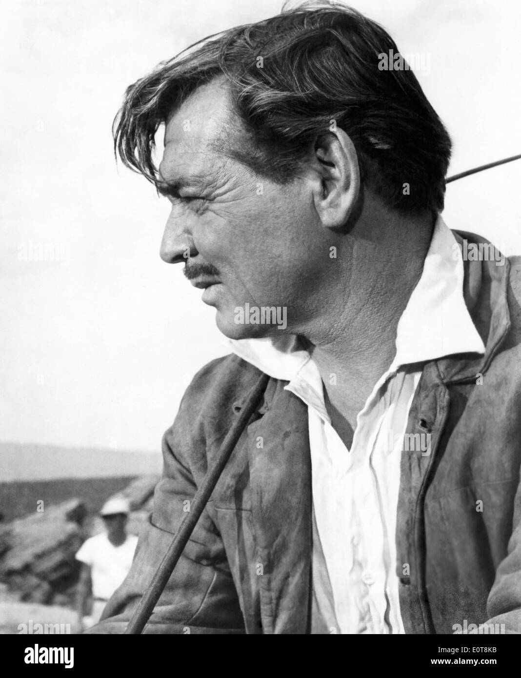 Clark Gable, on-set of the Film, The Misfits, 1961 - Stock Image