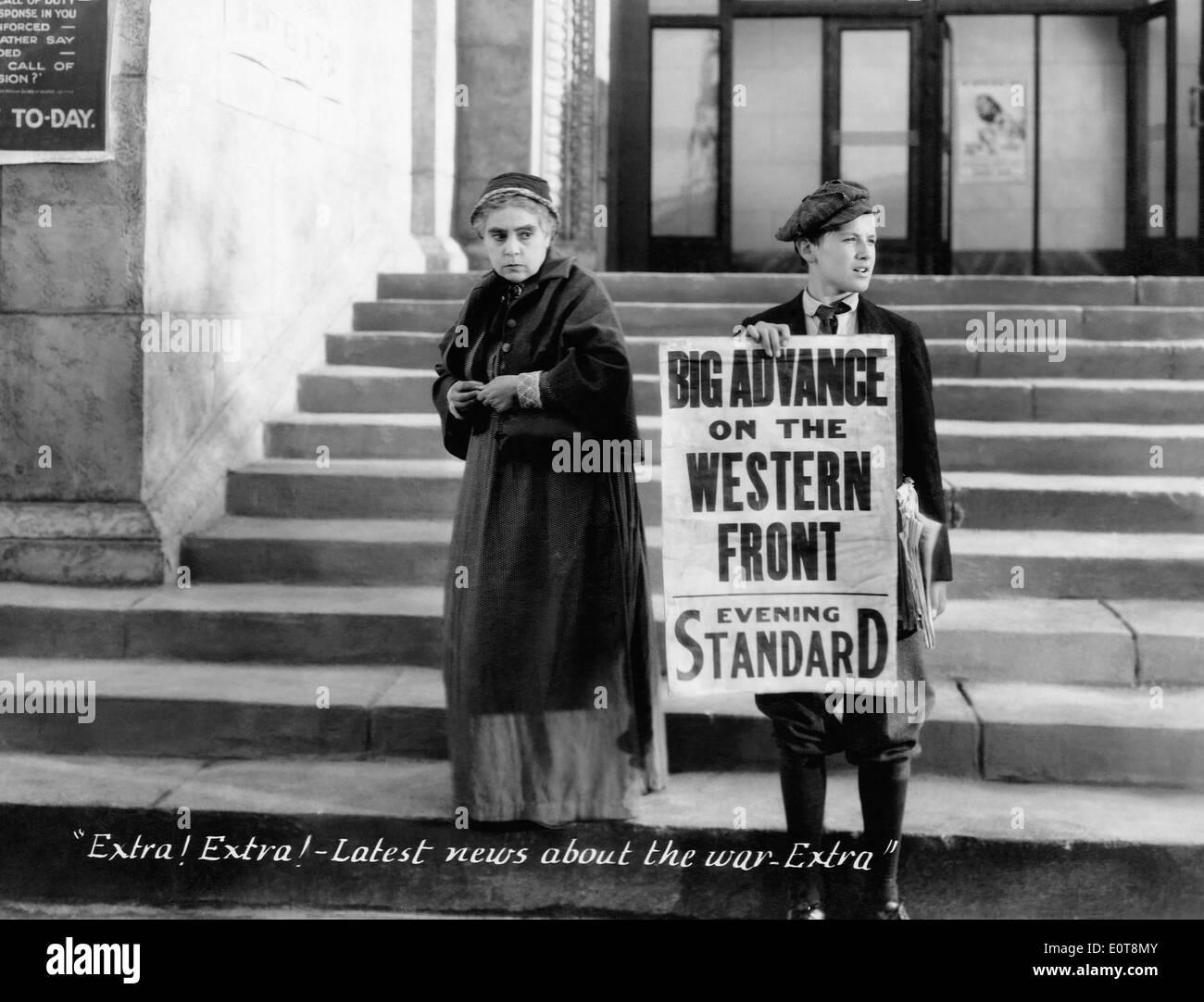 Beryl Mercer, on-set of the Film, 'Seven Days' Leave', 1930 - Stock Image