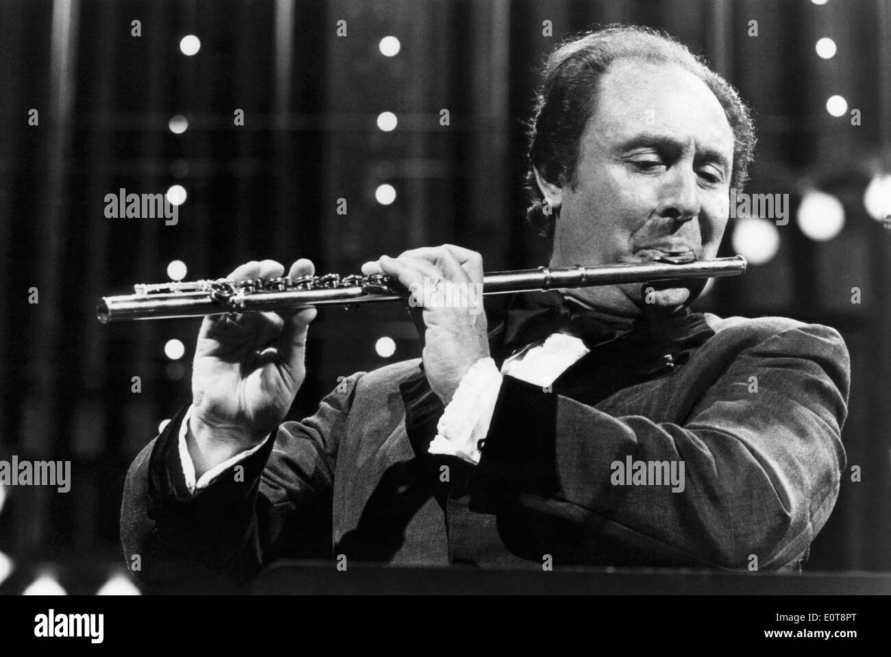 Jean-Pierre Rampal, French Flautist, Performing for Boston Pops Orchestra, 1977 - Stock Image