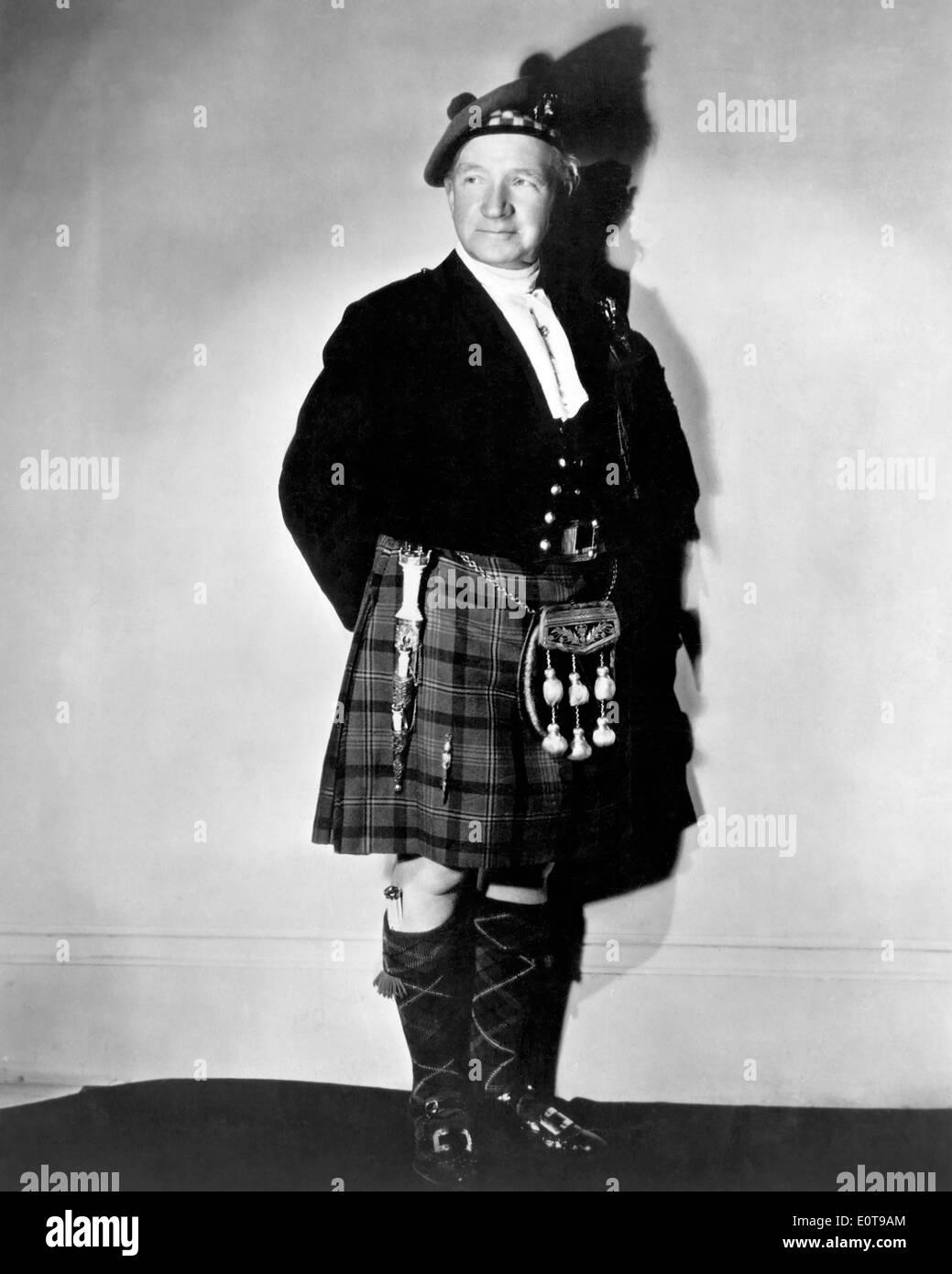 Sir Harry Lauder, Scottish Comedian and Singer, Portrait in Kilt, circa 1930's - Stock Image
