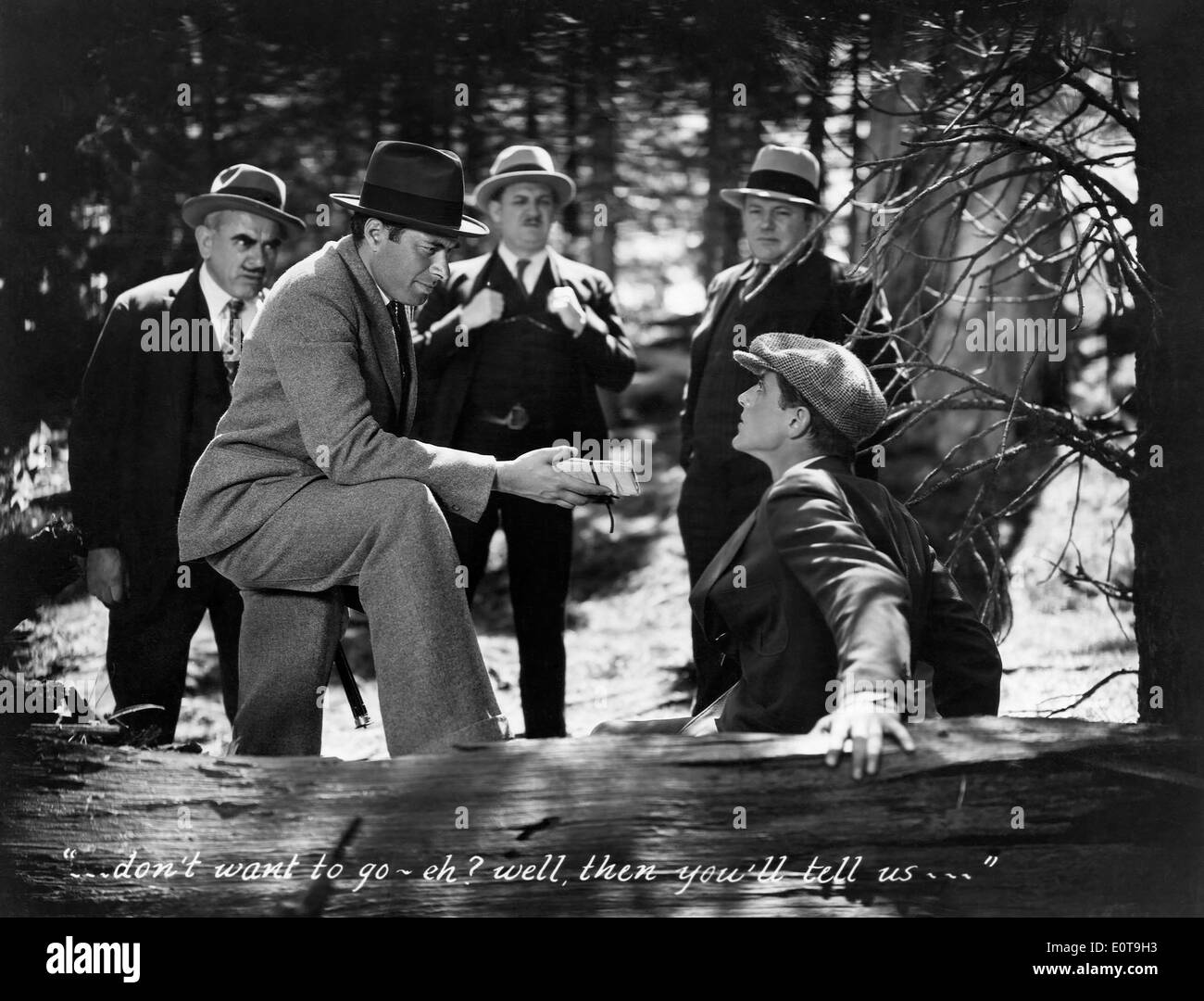 Irving Pichel (L) & Phillips Holmes (R), on-set of the Film, 'An American Tragedy', 1931 - Stock Image