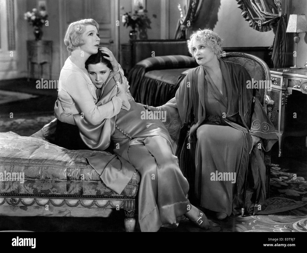 Ina Claire, Mary Brian, Henrietta Crosman, on-set of the Film, 'The Royal Family of Broadway', 1930 - Stock Image
