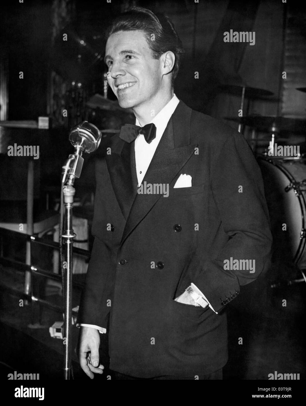 Ozzie Nelson, American Band Leader, Film and TV Actor, Portrait in Tuxedo, circa 1940's - Stock Image