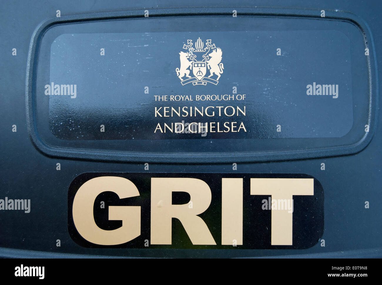 street grit container of the royal borough of kensington and chelsea, london, england Stock Photo