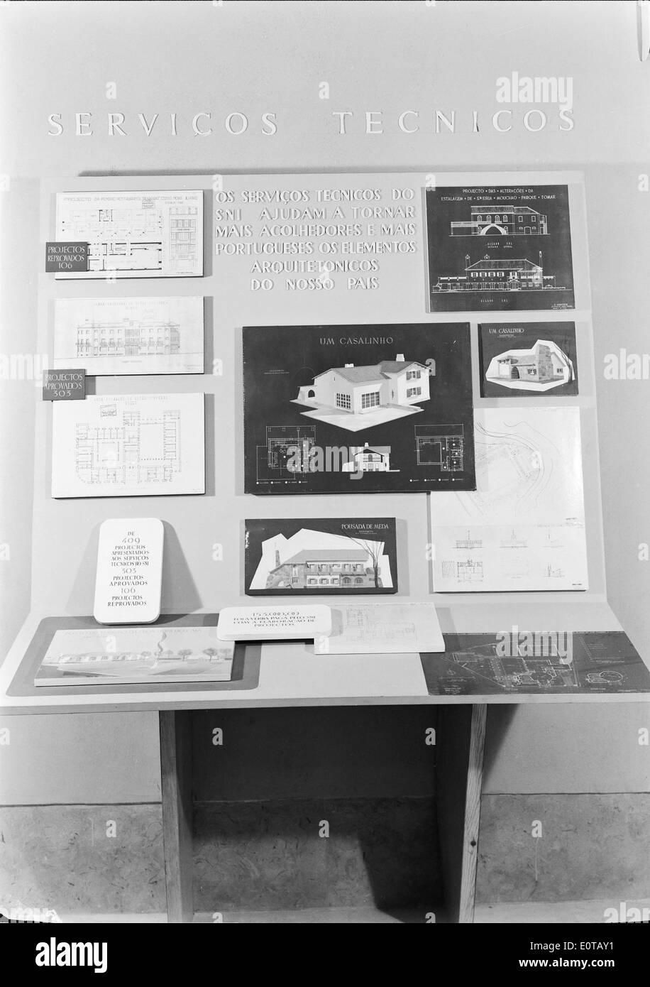 Exposição '14 anos de Política do Espírito', Lisboa, 1948 - Stock Image