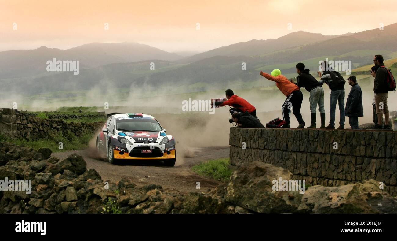 Azores, Portugal. 17th May, 2014. Bernardo SOUSA (PRT)and Hugo MAGALHAES (PRT)-Ford Fiesta Rallye Sata Azores- ERC © Action Plus Sports/Alamy Live News - Stock Image