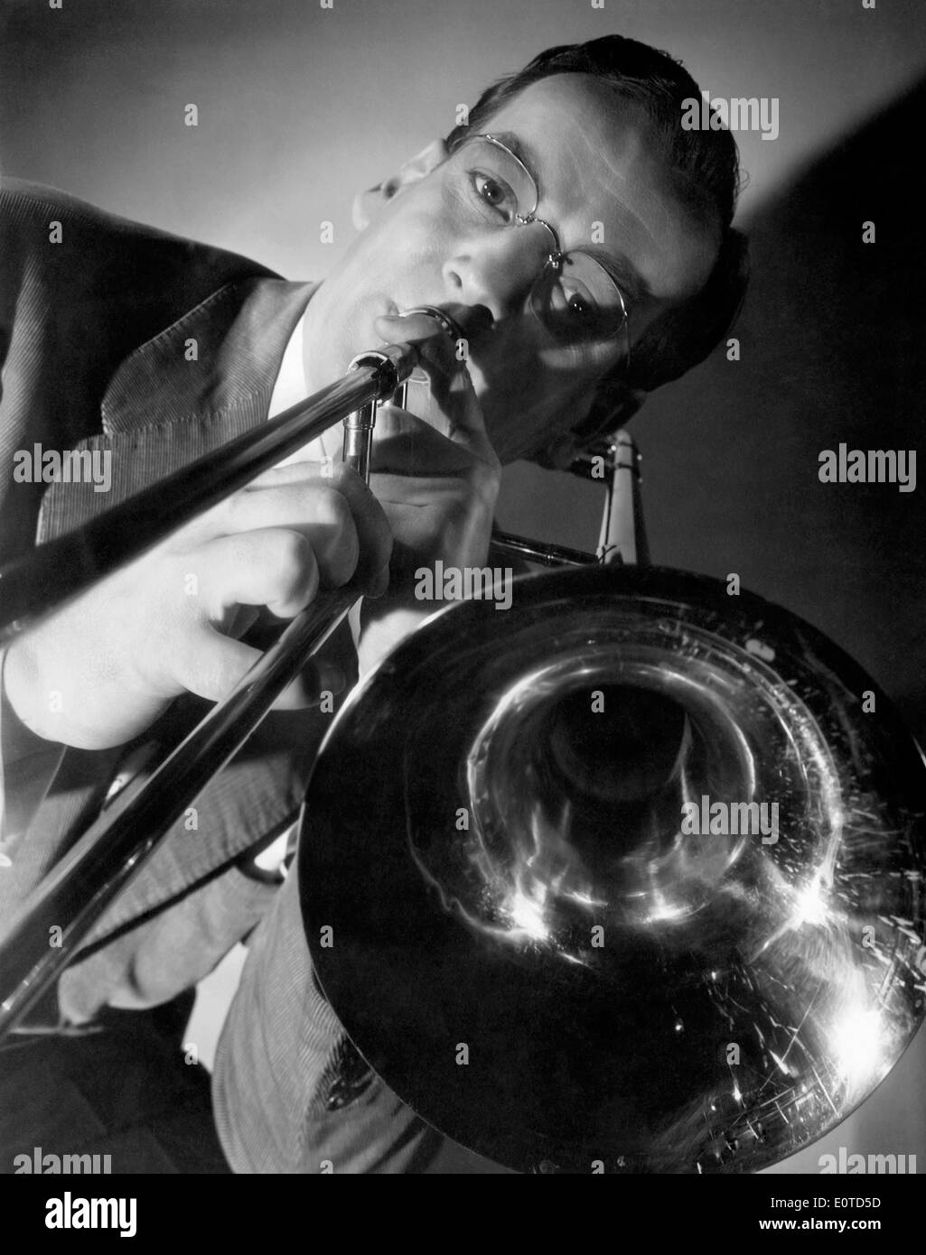 Glenn Miller, on-set of the Film, 'Orchestra Wives', 1942 - Stock Image