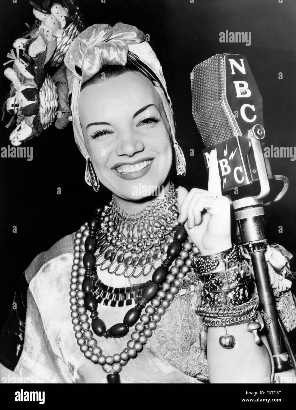 Carmen Miranda Smiling Portrait NBC Radio Show 1939