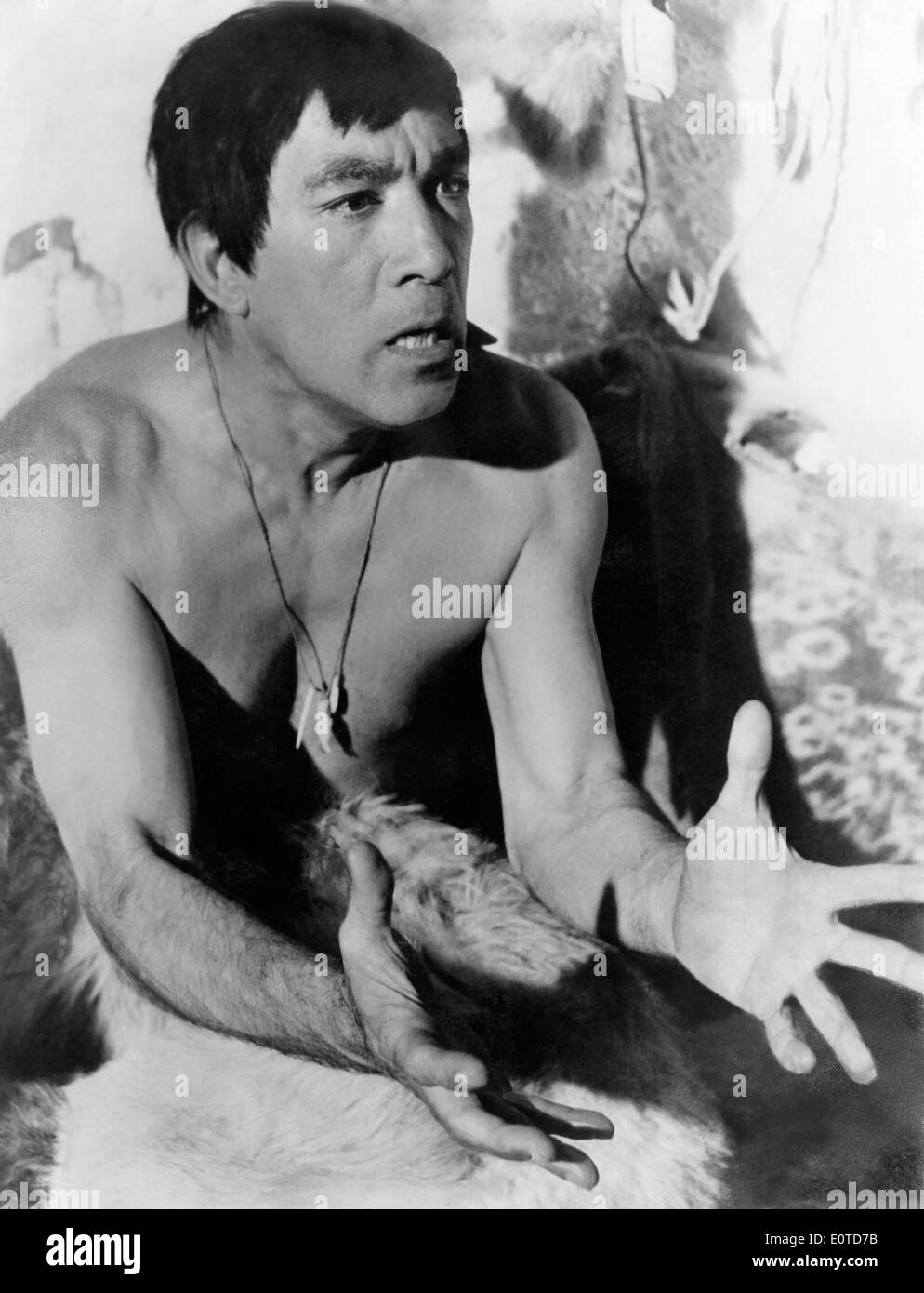 "Anthony Quinn, on-set of the Film, ""The Savage Innocents"", 1960 Stock Photo"