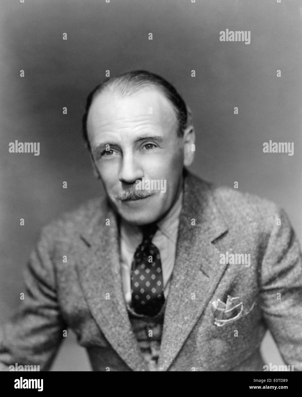 Roland Young, Portrait, on-set of the Film, 'Topper', 1937 - Stock Image