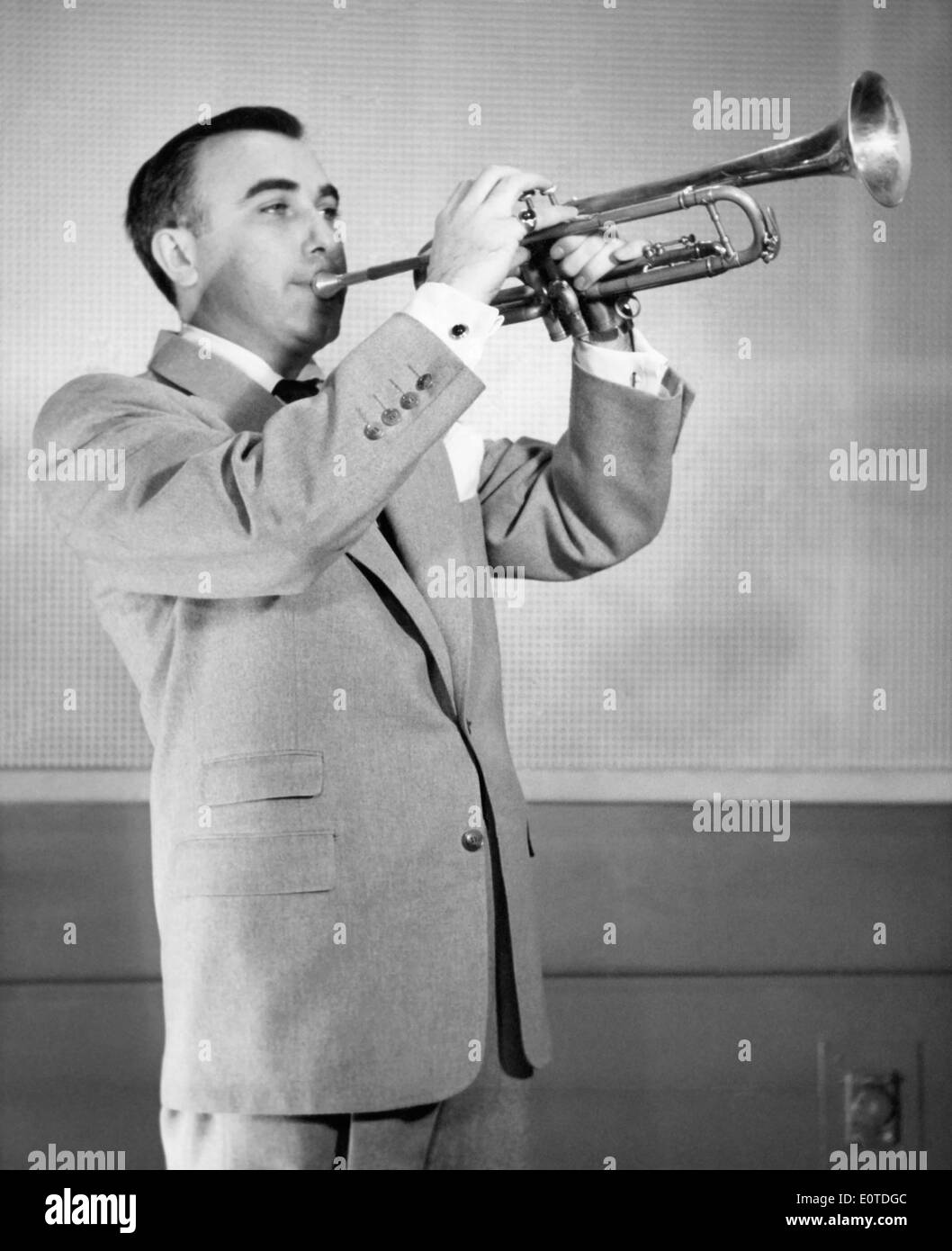 Ralph Marterie Big Band Leader Portrait Playing Trumpet Circa Stock Photo Alamy