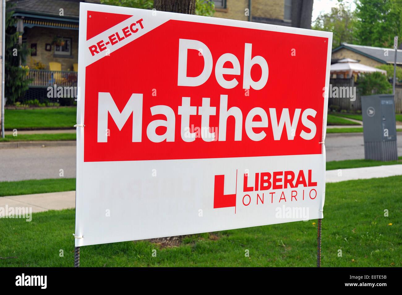 ontario election sign for london liberal politician deb matthews