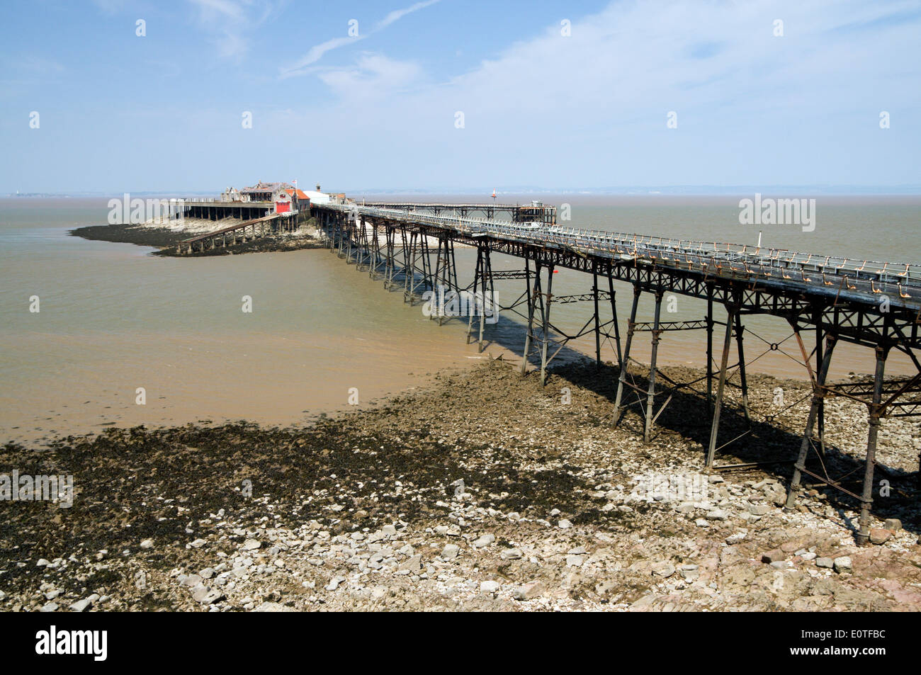 The Old Pier Birnbeck  Island, Weston-Super-Mare, Somerset , England. - Stock Image