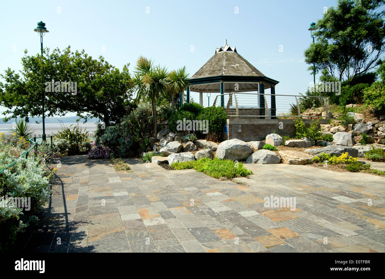 Band stand, Seafront, Weston Super Mare, Somerset, England. - Stock Image