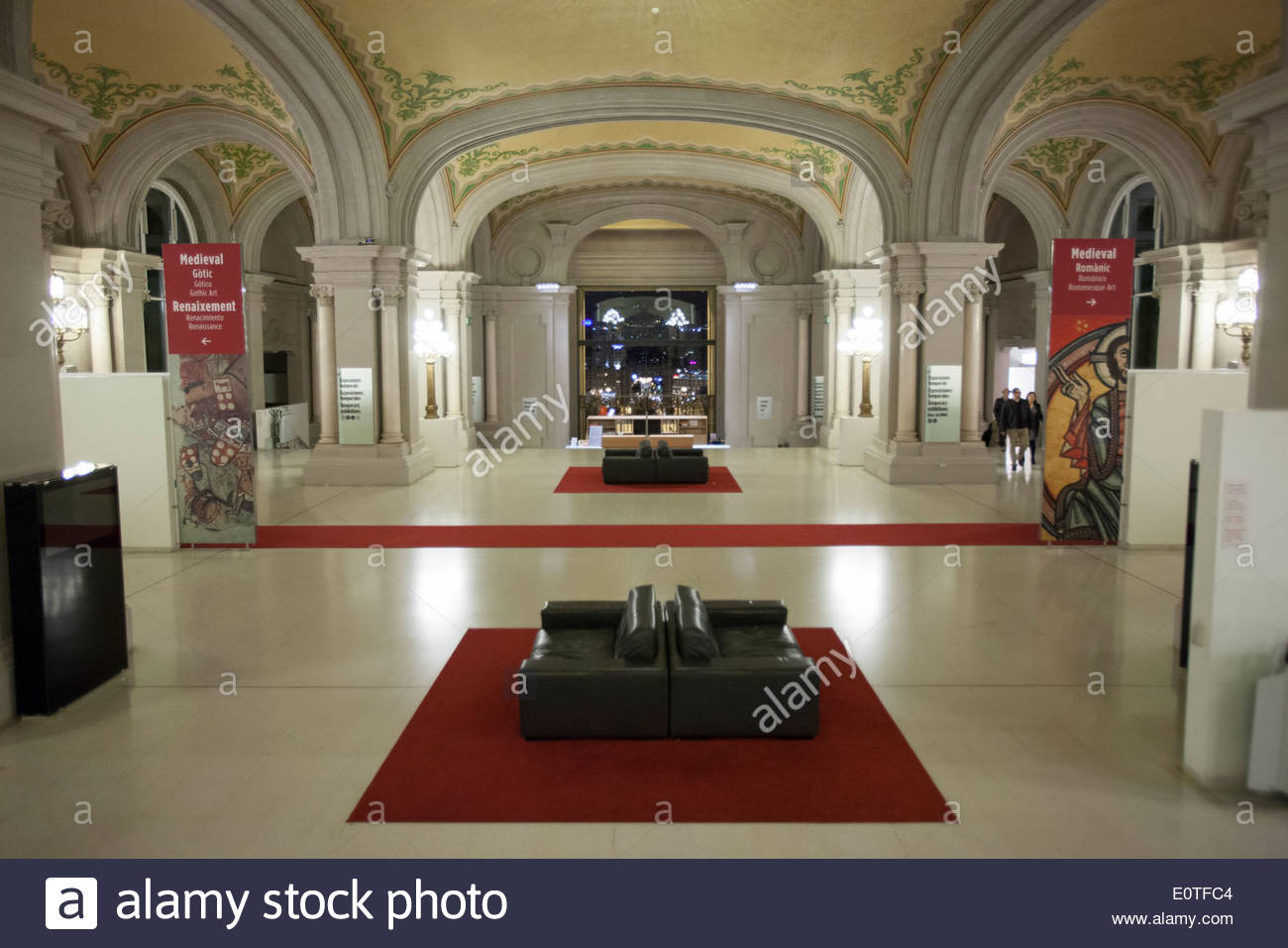 Hall of the National art museum of Catalonia  (MNAC) Barcelona. Spain - Stock Image