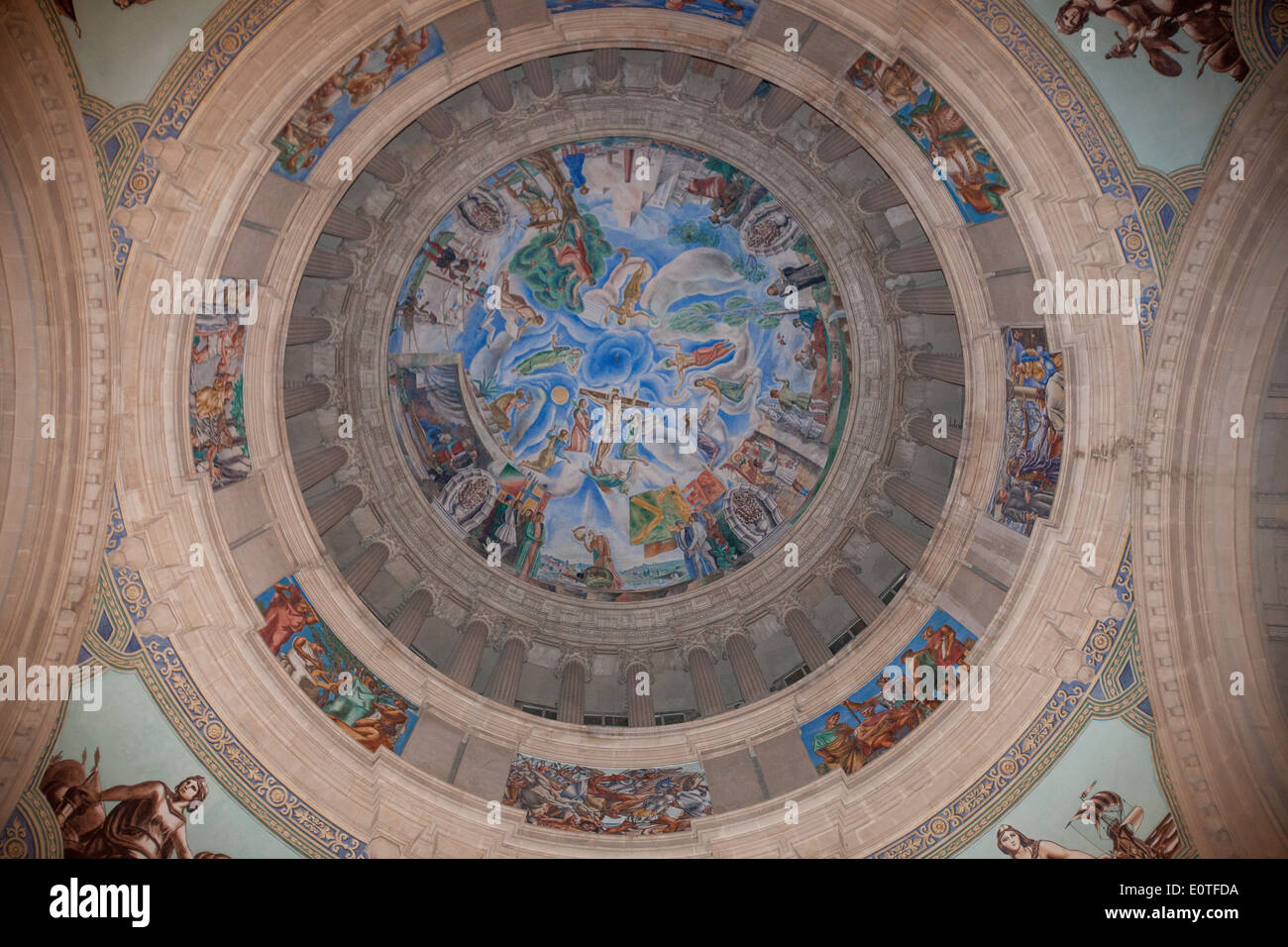 Inside of the dome at the National art museum of Catalonia  (MNAC) Barcelona. Spain - Stock Image